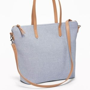 NWT Old Navy ~ Chambray canvas tote
